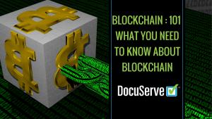 Blockchain 101 with Docuserve